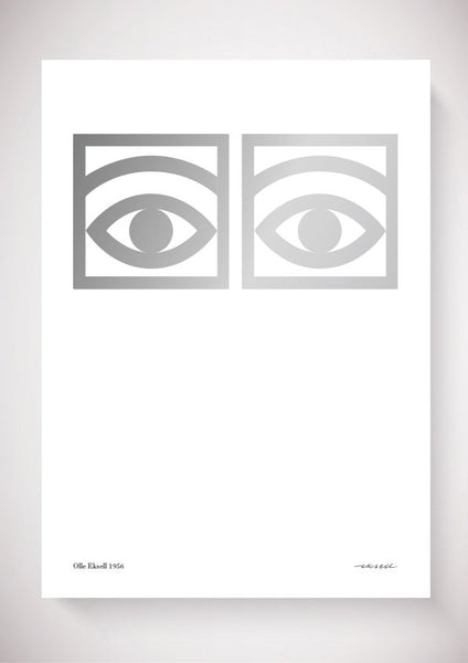 Ögon Cacao Silver - 1956 - One Eye - 50x70