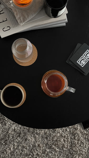 Ögon Cacao Black Coasters - White Eyes