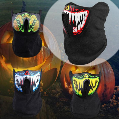 Sound Control LED Masks Terror Festival Glowing Face Mask