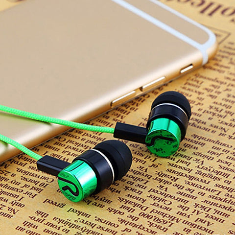 Ear Braided Rope with Wired Earplugs EarBuds