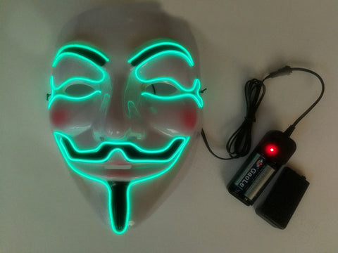 Halloween Mask LED Light Party Masks Terror V Light The Purge Election Year Funny Masks Festival Cosplay Costume Glow In Dark