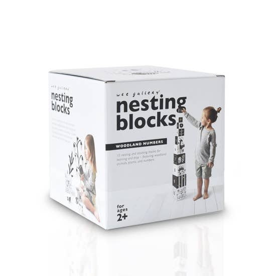 Nesting Blocks- Woodland Numbers