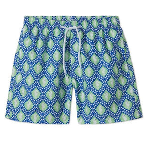 Swim Shorts Blue And Green Sea Horse