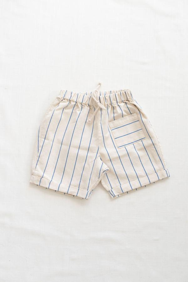 Pocket shorts- blue stripe