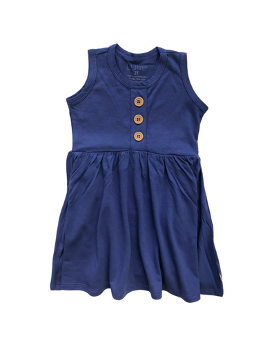 Maisie Dress- Skipper Blue