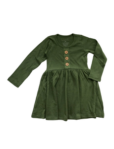 L/S Maisie Dress- Chive