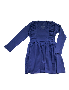 L/S Vayda Dress- Skipper Blue