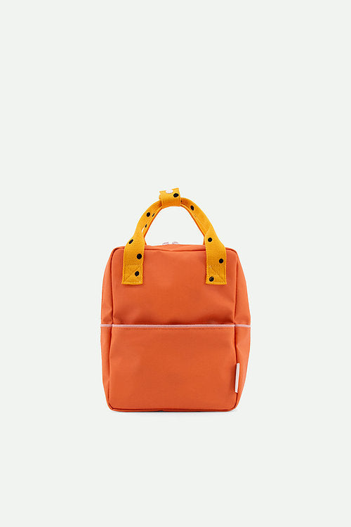 Small Backpack Freckles | carrot orange + sunny yellow + candy pink