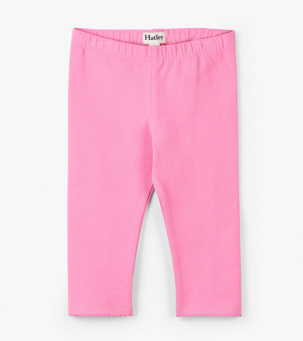 girls pink capri leggings