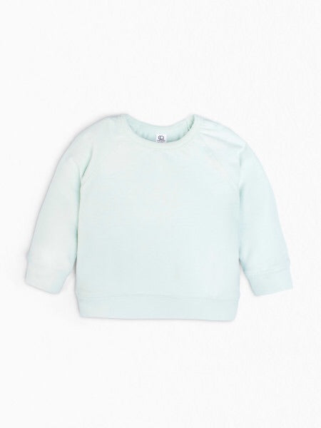 kids blue organic sweatshirt