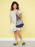 Girls Pretty Grey Party Dress - Kids Best in Class Grey & Painterly Stripe Dress