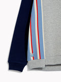 Boys Smart Striped Sweat Jumper - Cut & Paste Grey Marl Pullover Sweater Top