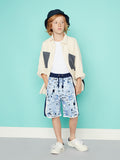 Boys Smart Board Shorts - Collage Splatter Sweat Short