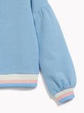 Girls Pretty Blue Zipped Sweater - Kids Long Sleeved Zip Up Jumper Make Waves Blue Belle Marl Sweat Top