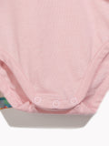 Little Girls Toddlers Pink Playsuit - Softie Abstract Playsuit