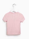 Girls Toddler Party T-Shirt - Toddlers Short Sleeved Adulation Rose Quartz Marl T-shirt