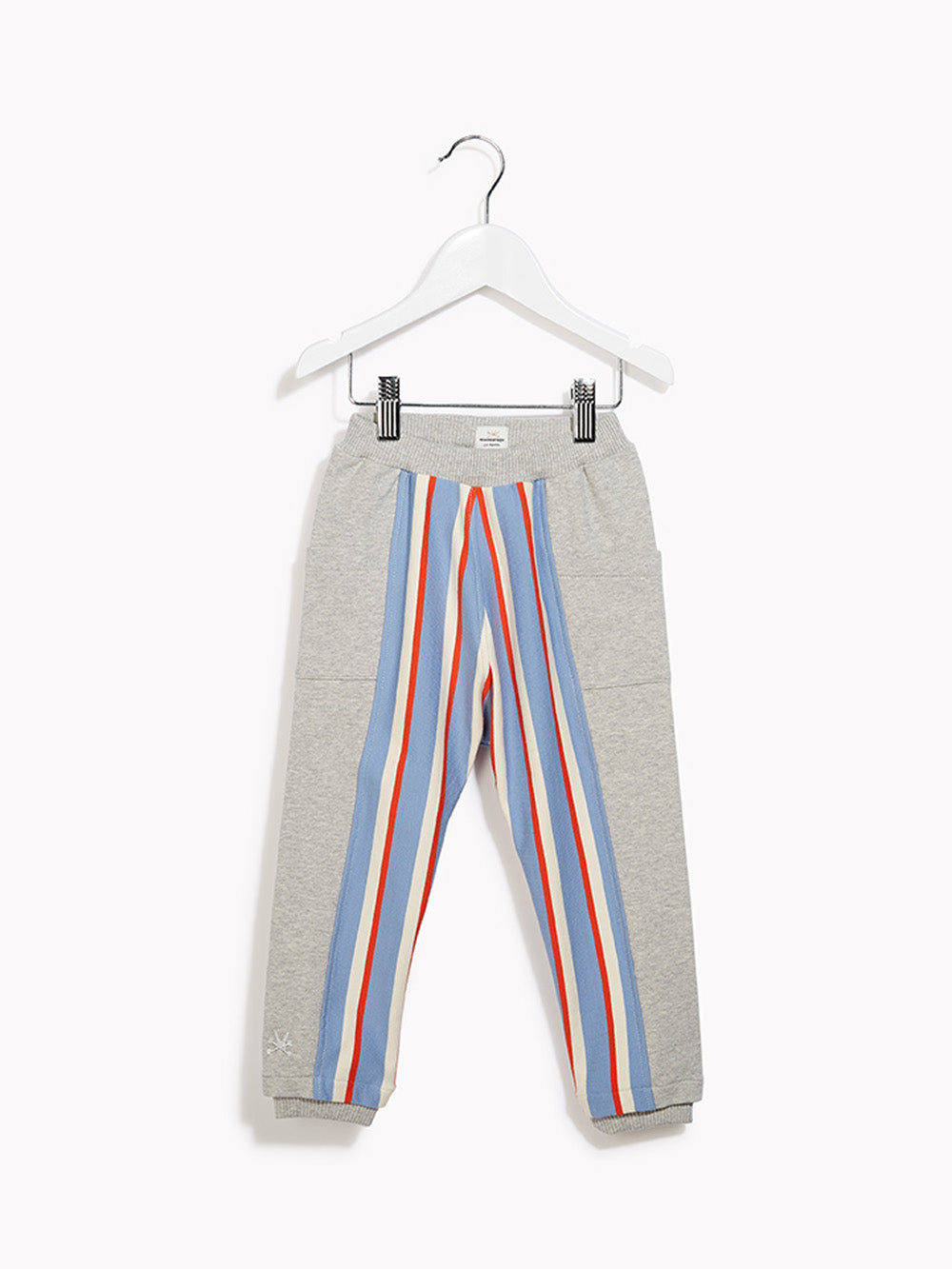 Little Boys Sweat Pants - Toddlers & Crawlers Swank Grey Marl & Collegiate Stripe Trouser Jogging Bottoms