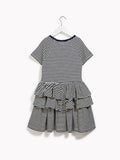 Pretty Girls Party Smart Dress - Periphery Childrens Salon Navy & White Dress