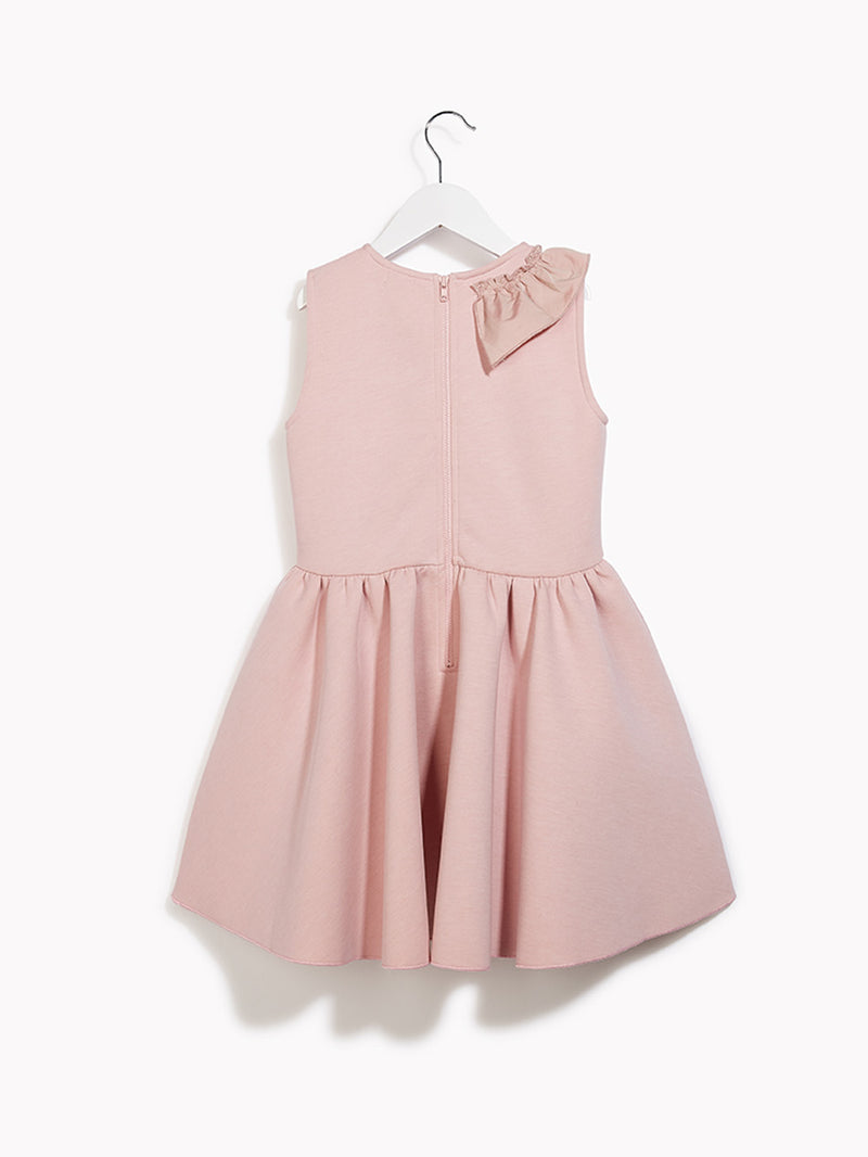 Girls Pretty Pink Party Dress - Kids Sculptation Rose Quartz Marl Dress