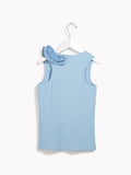 Girls Vest Top - Kids Maquette Blue Belle Vest Top