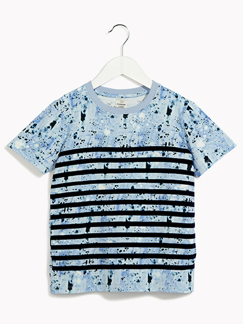 Boys Cool Short Sleeved T-Shirt - Breton Splatter Tee