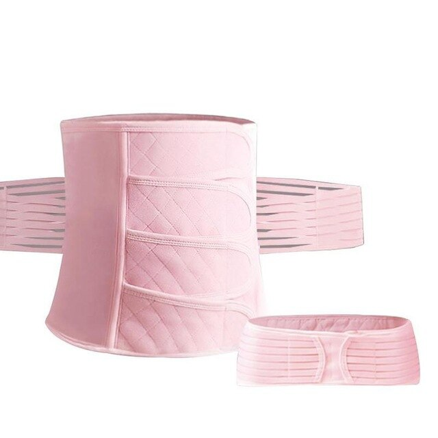 2pcs/set Four Ear Gauze Abdomen Belt Postpartum Corset Belt Maternal Caesarean Section To Produce Enhanced Body Shaping Belt