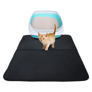 Waterproof Pet Cat Litter Mat EVA Double Layer Cat Litter Trapping Pet Litter Cat Mat Clean Pad Products