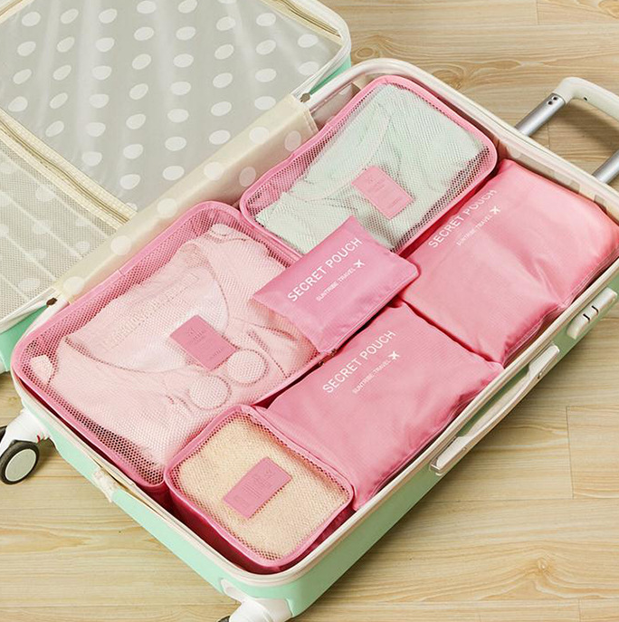 Travel clothing bra storage bag 6 and 7 sets of classification storage bag luggage sorting bag clothing dispensing bag