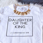 hristian T Shirts Women Daughter of The King Letter Print Cotton Cute Christian Tshirt Women's Jesus Shirt Harajuku Tops