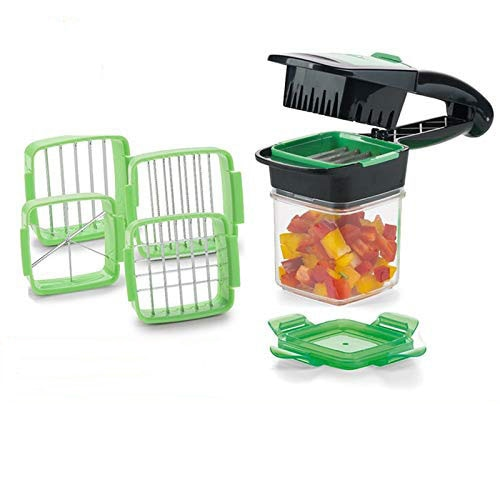 Magic Slicer Nicer Chopper Dicer Quick Set 5 In 1 Vegetables Fruits Cutter Food Multi-Function Salad Onion Vegetable Cutter
