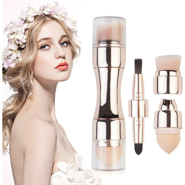 4 In 1 Makeup Brushes Foundation Eyebrow Shadow Eyeliner Blush Powder Brush Cosmetic Concealer Professional Maquiagem