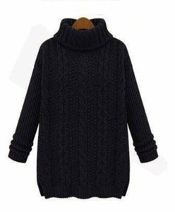 Womens Classic Turtle Neck Sweater