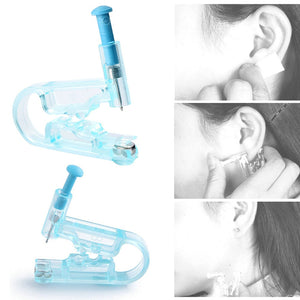 Free 1Pairs Disposable Adult Ear Piercing Gun Painless Health Sanitation Asepsis Ear Piercing Gun Pierce Tools With Ear Stud