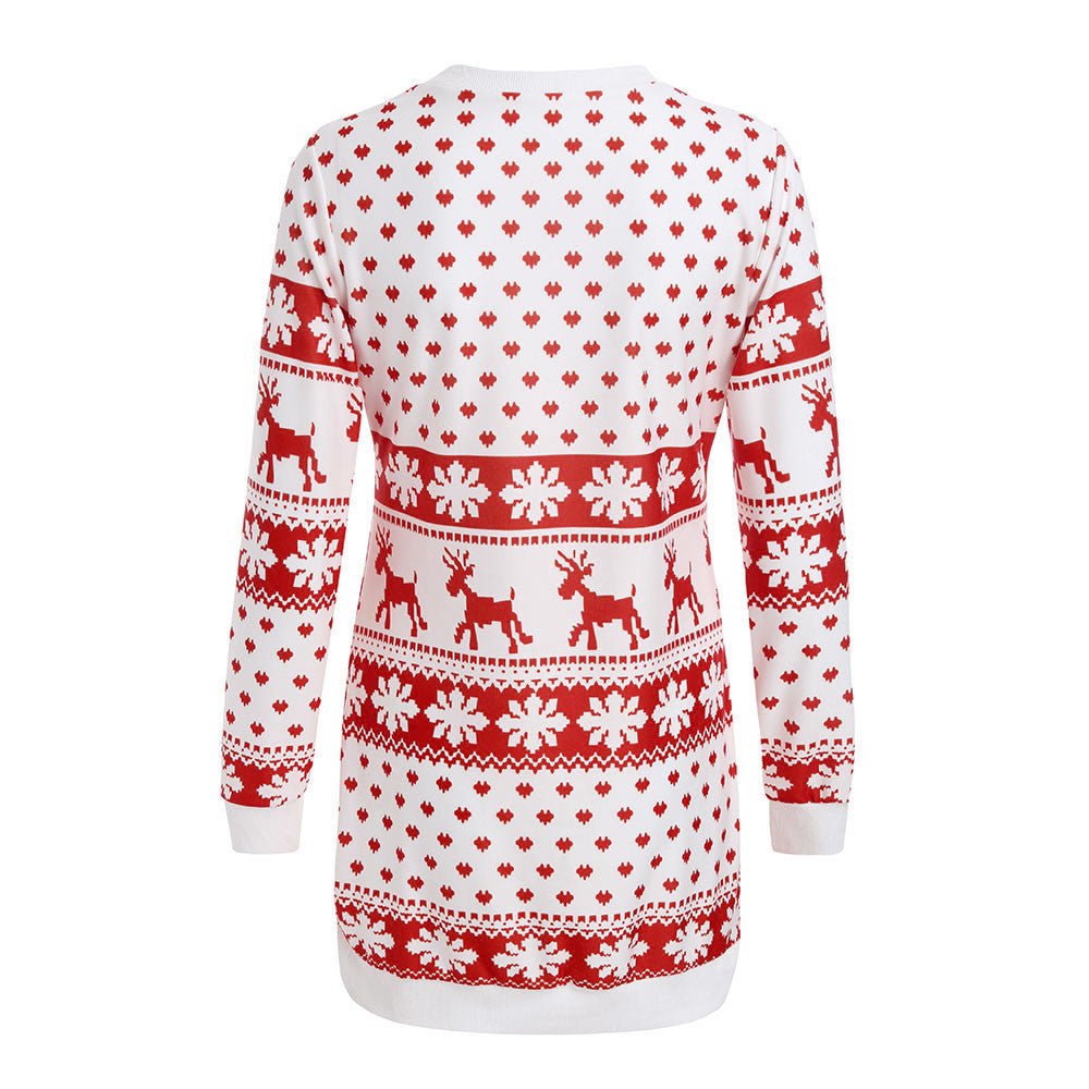 Long Christmas Sweater for Women Jumper Sweater Pullover Tops