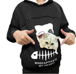 Pet Carrier Thicken Hoodies Kitten Puppy Holder Animal Pouch Hoodie Breathable Hooded Sweatshirt Teen Girls Women Pullovers Tops