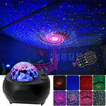 LED Laser Colorful Starry Sky Ocean Projector Night Light With Bluetooth Music Speaker