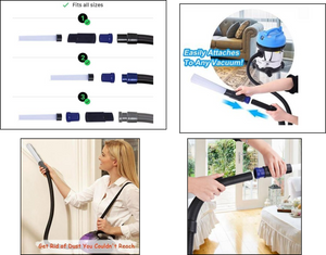Multi-functional Dust Brush (Dirt Cleaner with Universal Portable Vacuum Attachment) - PRETTY BUYERS