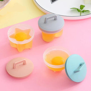 egg boiler kitchen tool microwave egg poacher poached eggs Cute Egg Boiler Plastic Egg Poacher Set prettybuyers.com