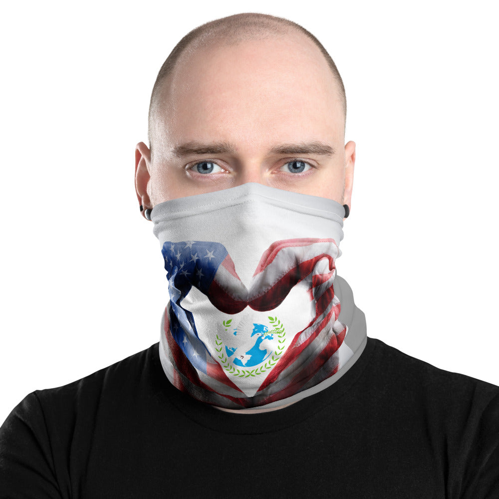 Peace USA Map Neck Gaiter