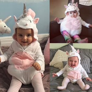 Baby Girl Unicorn Romper Jumpsuit | Halloween Costume for Toddler