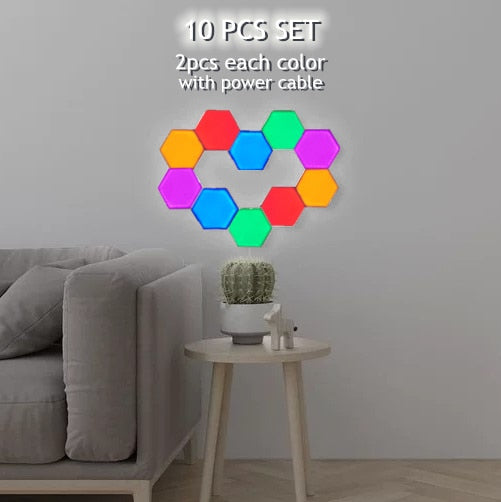 Creative Touch Sensitive Hexagonal Lamps