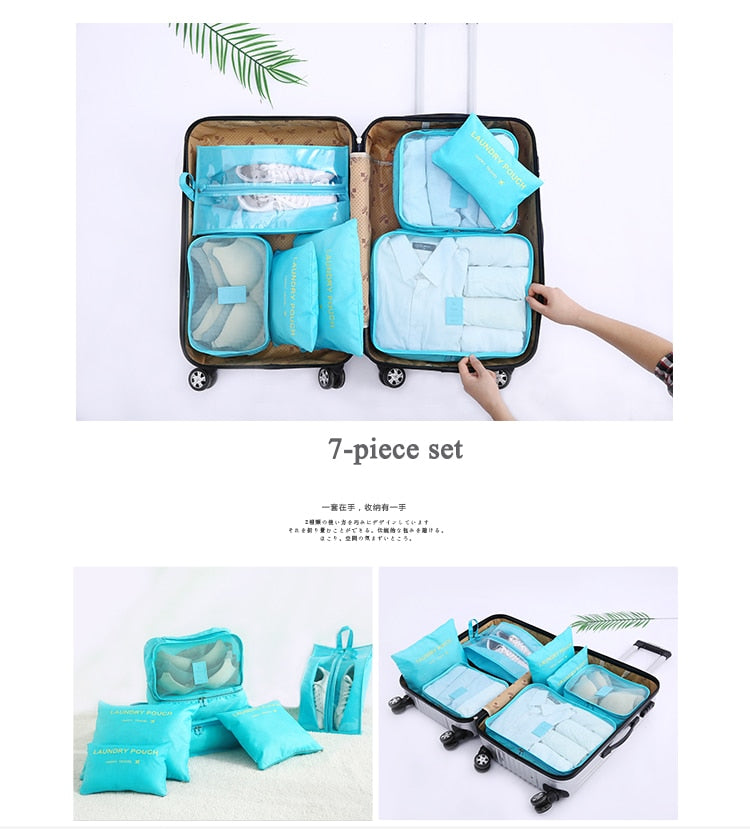 Multi-function 7 pcs/set Travel Bags | Travel Organizer