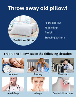 Comfort Bedding Pillow for Neck protection (50x30 cm)