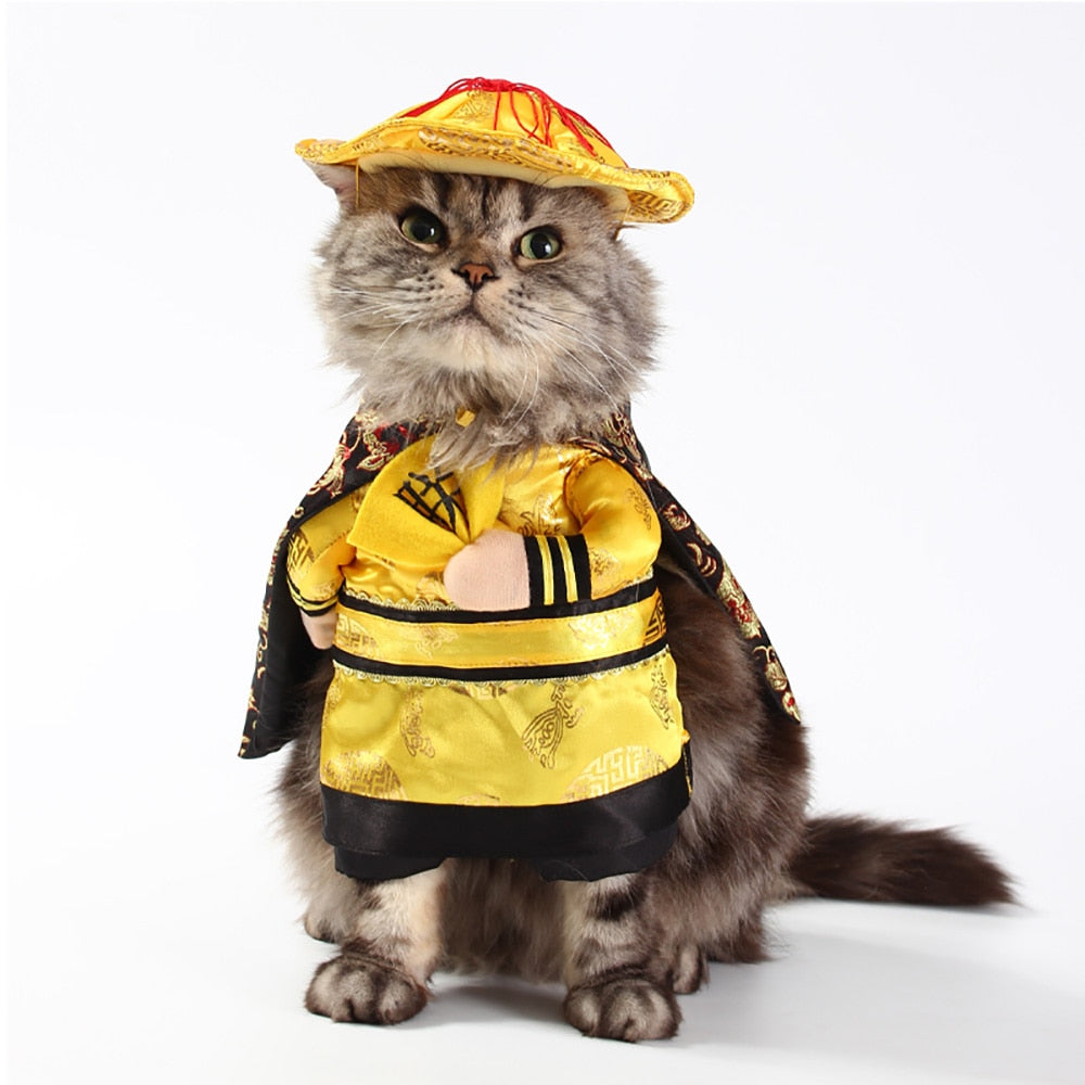 Funny Chinese Emperor & Princess Halloween Costumes For Cats & Dogs
