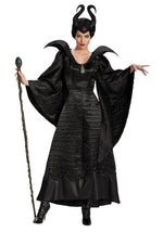 Maleficent Halloween Costume | Black Witch Gown for Women
