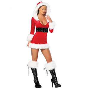 Santa's Secret Costume for Women | Female Sweet Santa Dresses Halloween Special