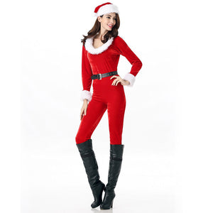 Velvet Santa's Little Helper Jumpsuits For Women | Halloween Costume for Women