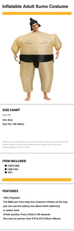 Funny Inflatable Sumo Costume | Japanese Sumo Costume