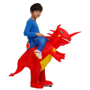 Inflatable Kids Dinosaur Costume | Carry On Dinosaur Halloween Costume