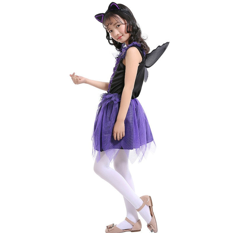 Purple Bat Costume for Girls | Halloween Girl Costume